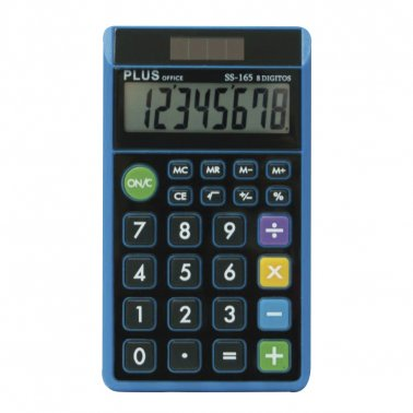 CALCULADORA PLUS OFFICE SS165 DE BOLSILLO